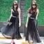 Sevy Moshino Pleat Chiffon Long Skirt thumbnail 2