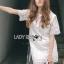 Lady Ribbon's Made Lady Amanda Classic White Bold Lace Dress thumbnail 1