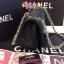 Chanel classic 10นิ้ว สีดำ หนังLampskin thumbnail 3