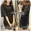 Lady Ribbon's Made Lady Delphina Classic Minimal Guipure Lace Dress สีดำ thumbnail 3
