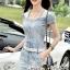Seoul Secret Say's... Diamond Crystal Furnish Denim Dress thumbnail 6