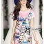 Lady Ribbon's Made Lady Hannah Playful Owl Printed Shift Dress in Pink thumbnail 3