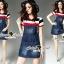 Seoul Secret Say's .... Almanda Chic Stipy Denim Dress thumbnail 3