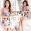 Lady Ribbon's Made Lady Hannah Playful Owl Printed Shift Dress in Pink thumbnail 1