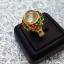 แหวนลงยา ฉลุลายสุโขทัย ประดับหินไหมทอง thumbnail 1