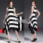 Lady Ribbon's Made Lady Clair Minimal Chic Bold Striped Asymmetric Dress thumbnail 2