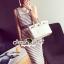 Seoul Secret Say's... Chic Stripy bib Dress สีเทา thumbnail 2