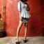 Vintage dress : ชุดยีนส์แพทเทิร์นเก๋มากค่ะ สม๊อคหลัง กระโปรงสอบ แต่งระบายช่วงเอว แขนสามส่วน thumbnail 2