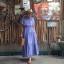 vintage dress : แม็กซี่เดรสสีม่วงลาเวนเดอร์แต่งระบาย แซมด้วยลูกไม้เป็นช่วงๆ แพทเทิร์นเข้ารูป ผ้าชีฟองเนื้อดีพร้อมซับใน thumbnail 1
