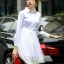 Cliona made' Helena Luxury White Long Shirt Dress thumbnail 1