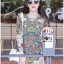 Lady Ribbon's Made Lady Mandy Hippie Chic Printed on Printed Jumper Dress thumbnail 7