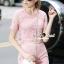 Seoul Secret Say's... Pastel Pink Circlely Lace Stylish Set thumbnail 2