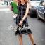 Seoul Secret Say's... Nifty Table Knity Dress สีดำ thumbnail 2