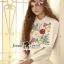 Seoul Secret Say's.. Nappy Color Bloosom Dress Shirt thumbnail 4