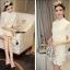 Korea Design By Lavida elegant see through daisy floral white lace dress thumbnail 6