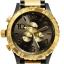 นาฬิกา NIXON Men Chronograph Chronograph Black Gold Dails Watch A083595 48-20 thumbnail 1