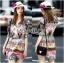 Lady Ribbon's Made Lady Florence Hippie Chic Printed Satin Dress thumbnail 1