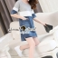 Seoul Secret Say's... Sweet Gray Stripe Denim Dress thumbnail 4