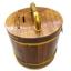 ถังเงิน ถังทอง กระปุกออมสิน ไม้สัก ทรงกลม 5 นิ้ว thumbnail 2