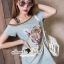 Seoul Secret Say's... Pastel Vintage Tiggy Softly Denim Dress thumbnail 2