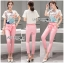 Lady Ribbon's Made Lady Margie Playful Printed Top and Pink Ribbon Pants Set thumbnail 3