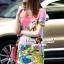 Seoul Secret Say's... Fairly Lanla Color Dress สีชมพู thumbnail 3