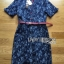 Lady Ribbon's Made Lady Kristen Floral Printed Denim Shirt Dress with Red Belt thumbnail 5
