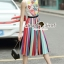Seoul Secret Say's... Lollita Pleatly Color Flora Print Dress thumbnail 3