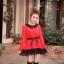 เสื้อแฟชั่น แขนยาว สีดำ รหัส 43936-แดง thumbnail 2