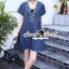 Seoul Secret Say's .... Sequinny V Furnish Denim Dress thumbnail 3