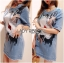 Lady Ribbon's Made Lady Sophie Sequin Embroidered Ripped Denim Dress thumbnail 4