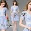 Lady Ribbon's Made Lady Gabby Feminine Pretty Blue Floral Lace Dress thumbnail 5