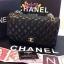 Chanel classic 10นิ้ว สีดำ หนังLampskin thumbnail 1