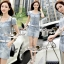 Seoul Secret Say's... Diamond Crystal Furnish Denim Dress thumbnail 3