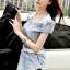 Seoul Secret Say's... Diamond Crystal Furnish Denim Dress thumbnail 2