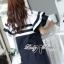 Lady Natasha Striped Dress in Navy Style thumbnail 3
