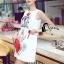Cliona made' Happy Family Garden Party Dress สีขาว thumbnail 3