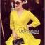 Lady Ribbon's Made Lady Stella Sexy Vivid Color Wrap Dress with Ribbon สีเหลือง thumbnail 3