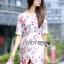 Lady Ribbon's Made Lady Pam Feminine Chinese Blossom Printed Dress thumbnail 4