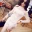 Cliona made' Jane Graceful White Lace Dress thumbnail 2