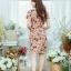 XL777ชุดเดรสผ้า Canvas พื้นส้มลายดอก แต่งปก กระเป๋า ติดโบว์ ผ้าสีขาว เพิ่มความน่ารักให้กับชุด thumbnail 16
