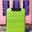 กระเป๋าเดินทางลายเพชร ขนาด 20 นิ้ว สีเขียว thumbnail 2