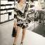 Seoul Secret Say's... Knitty Black Laf Beachy Dress thumbnail 3