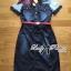 Lady Ribbon's Made Lady Olivia Urban Chic Rose Embroidered Denim Shirt Dress thumbnail 5