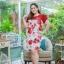 3 Size= XL,3XL,5XL ชุดเดรสสาวอวบ++ผ้า Korea Print จุดเด่นของชุดนี้อยู่ที่ลวดลายบนผ้า พื้นขาวลายกุหลาบแดง thumbnail 9