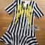 Lady Ribbon's Made Dolce & Gabbana Mini Yellow Embroidered Striped Dress thumbnail 5