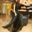 Cliona made'Princess Miyakey Luxury Dress B&W สีดำ thumbnail 2