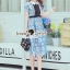 Seoul Secret Say's .... Baby Blue Flora Lace Flowering Dress thumbnail 2