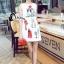 Cliona made' Happy Family Garden Party Dress สีขาว thumbnail 2