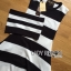 Lady Ribbon's Made Lady Clair Minimal Chic Bold Striped Asymmetric Dress thumbnail 4